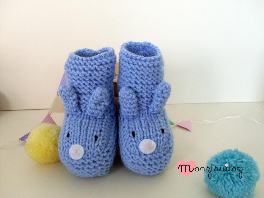 botitas conejito azul 12 a 18 meses