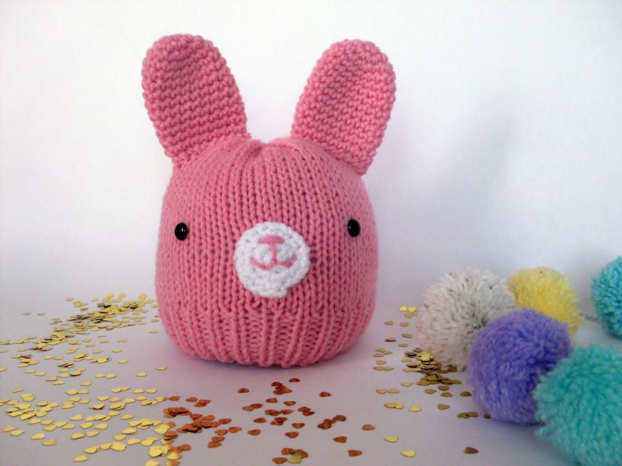 gorro conejito rosa