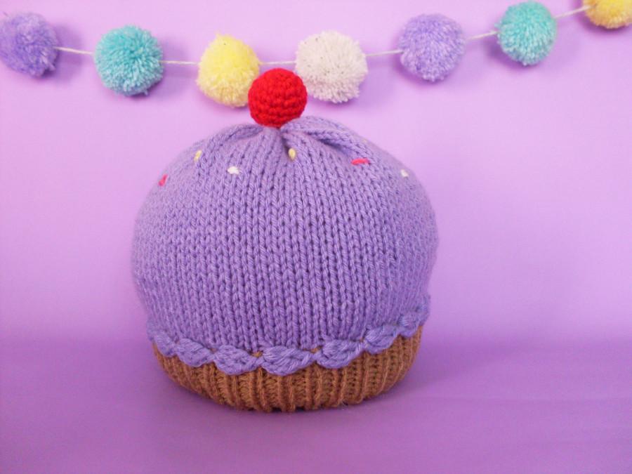 gorro cupcake lila