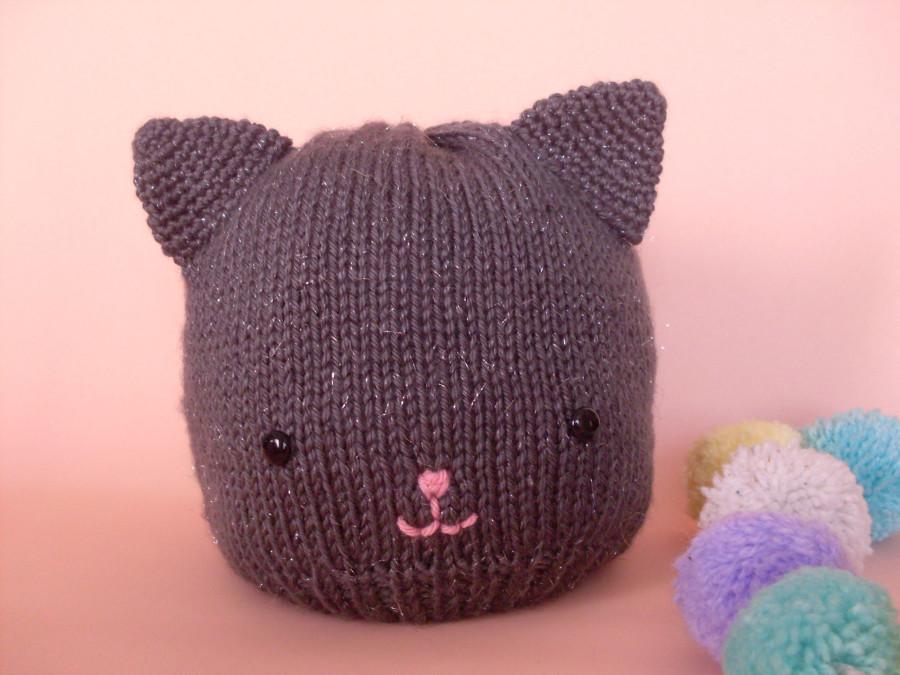 gorro gato gris brllitos