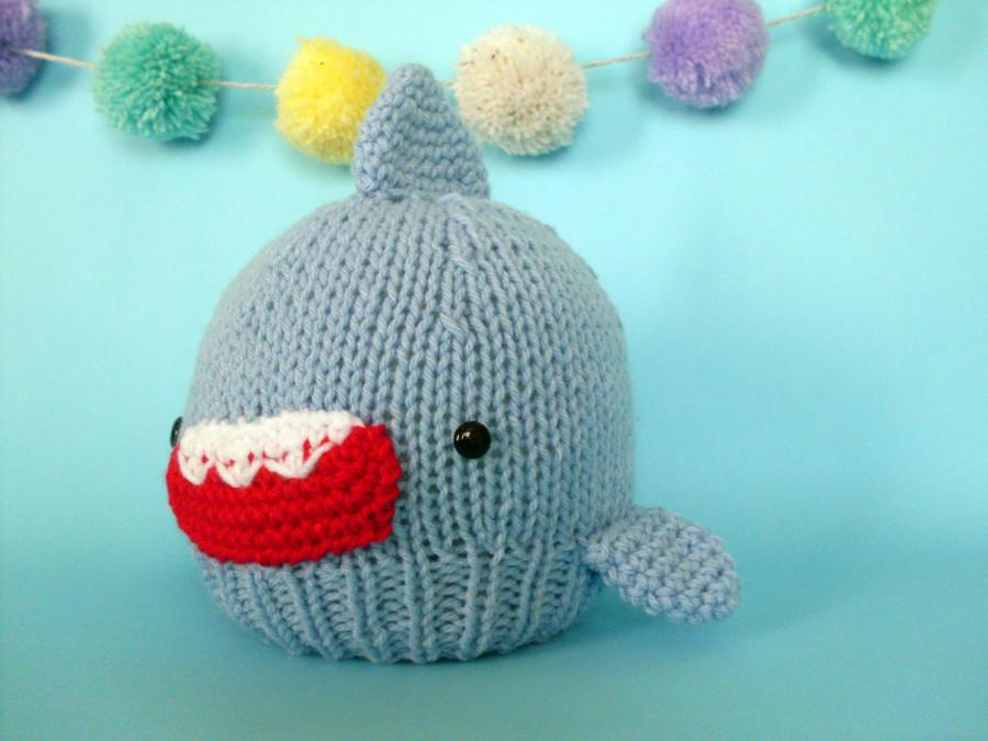 gorro tiburon azulito