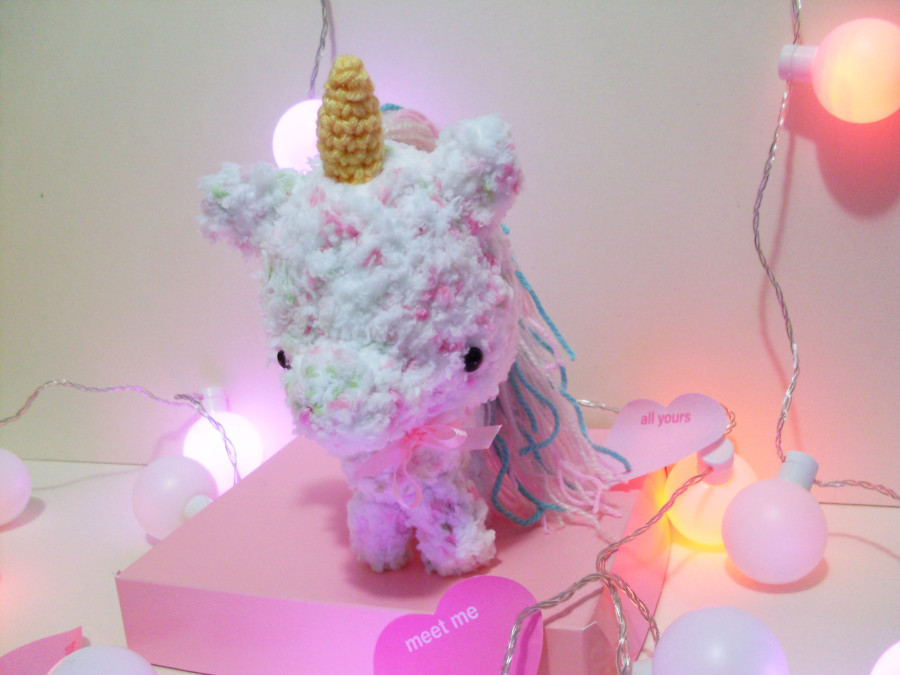 unicornio suavecin tierno pastelito